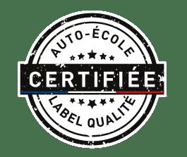 Logo label qualité noir